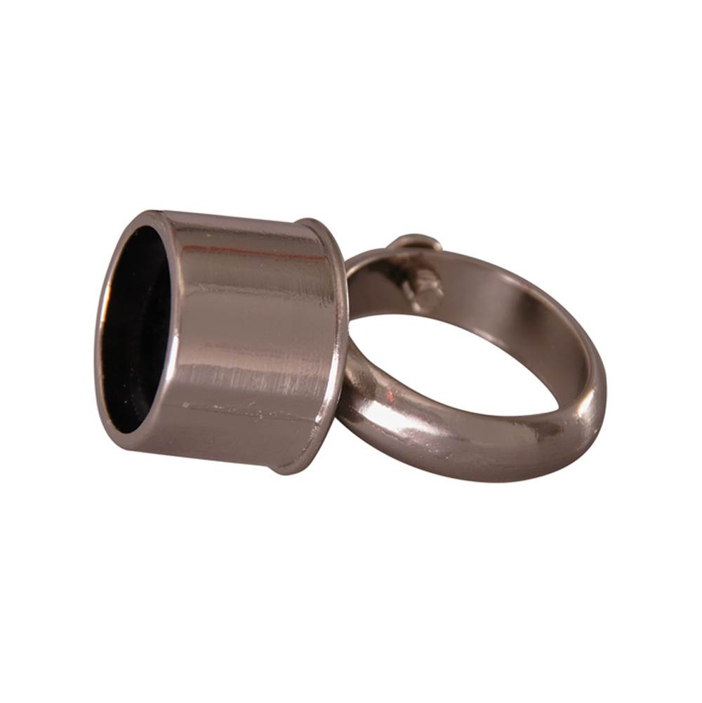 Barclay D-Rod Connection Loop Fitting, Polished Nickel