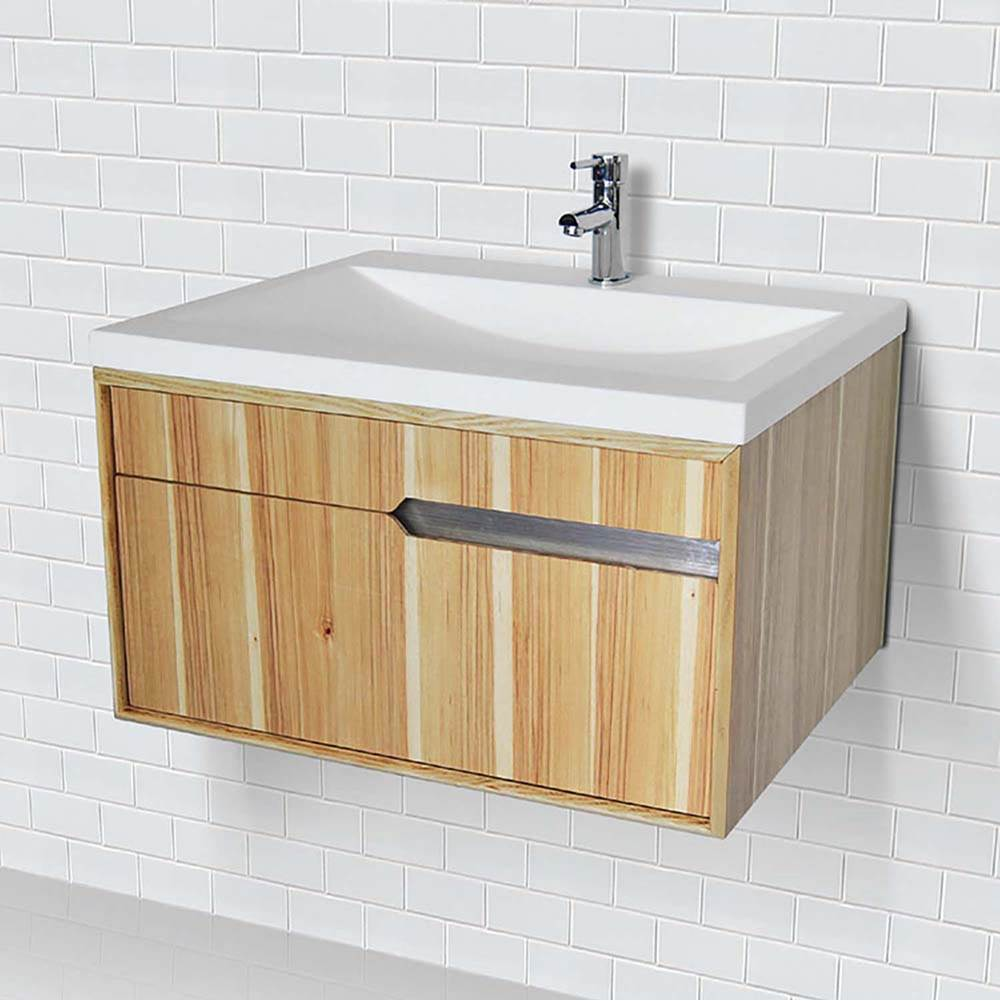 Decolav Wallmount Vanity With Solid Surface Countertop