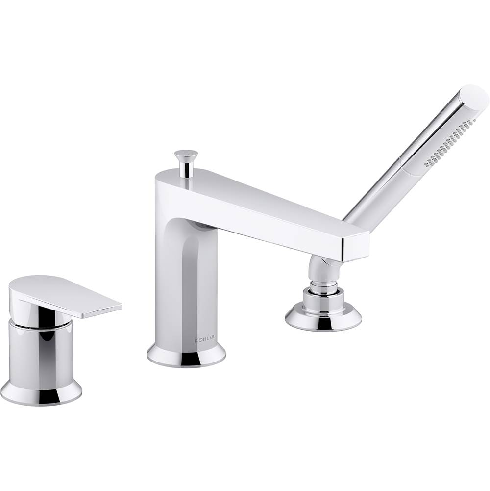 Kohler Taut™ 11 gpm deck-mount bath faucet with handshower