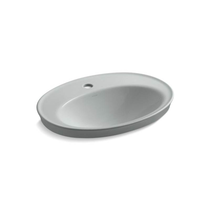 Kohler Serif® Drop-in bathroom sink with single faucet hole