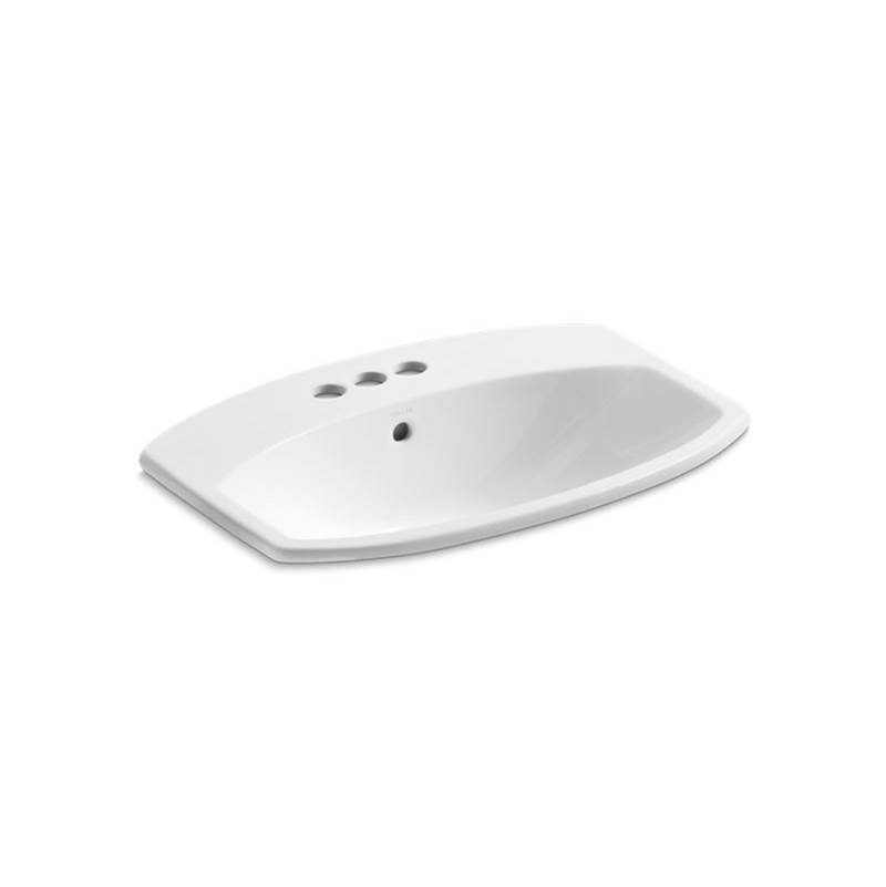 Kohler Cimarron® Drop-in bathroom sink with 4'' centerset faucet holes
