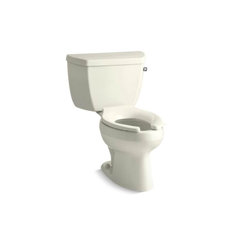 Kohler Wellworth® Classic Two-piece elongated 1.28 gpf toilet with right-hand trip lever and tank cover locks