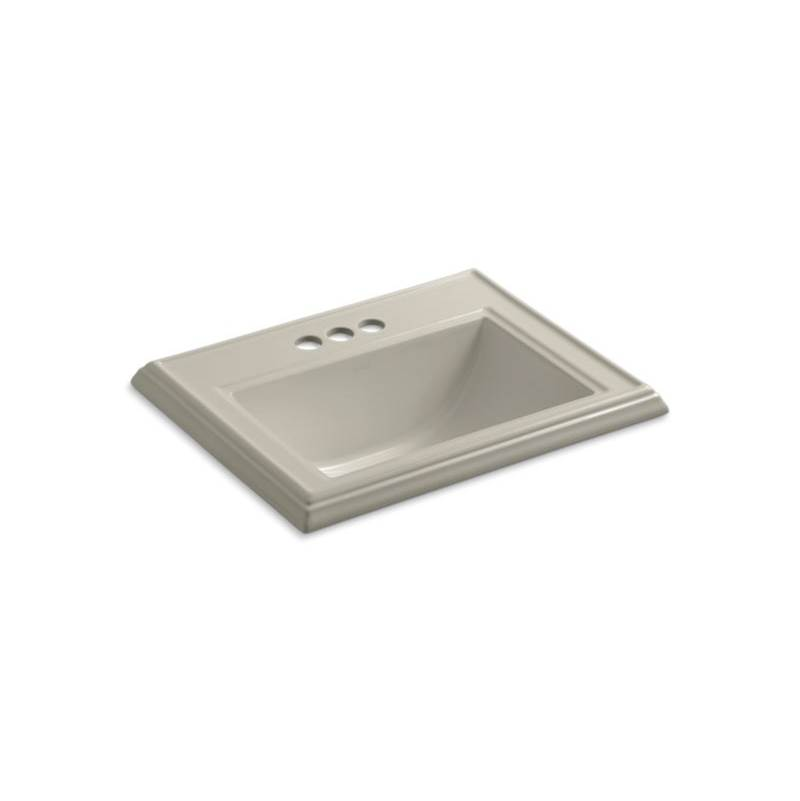 Kohler Memoirs® Classic Classic drop-in bathroom sink with 4'' centerset faucet holes