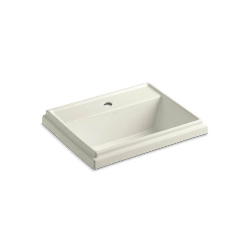 Kohler Tresham® Rectangle Drop-in bathroom sink with single faucet hole