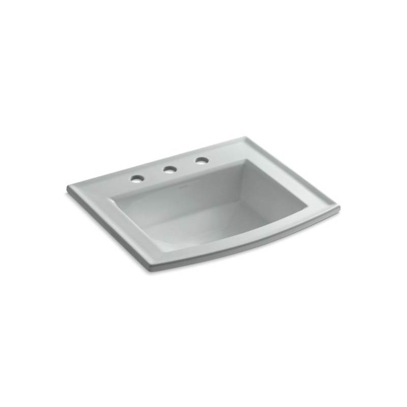 Kohler Archer® Drop-in bathroom sink with 8'' widespread faucet holes