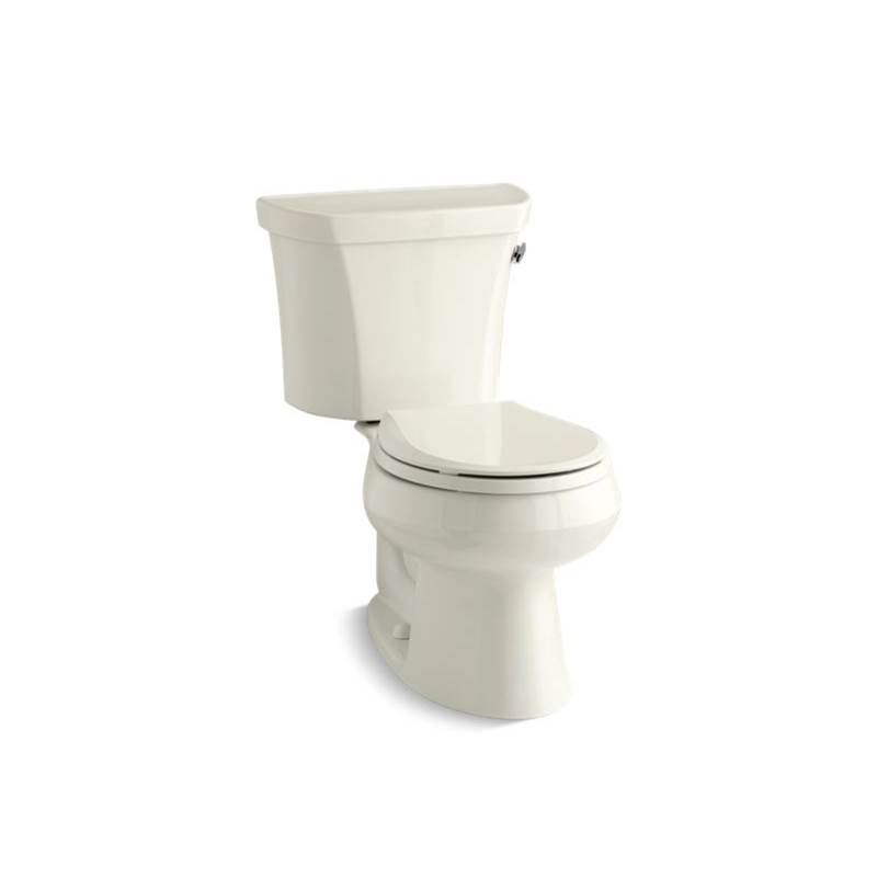 Kohler Wellworth® Two-piece round-front 1.6 gpf toilet with tank cover locks