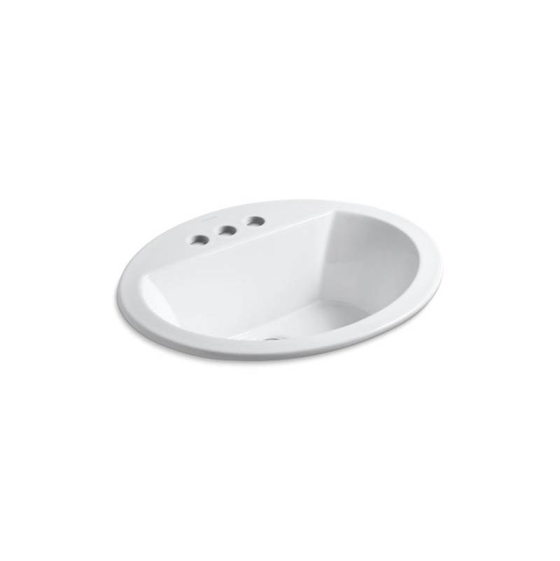 Kohler Bryant® Oval Drop-in bathroom sink with 4'' centerset faucet holes