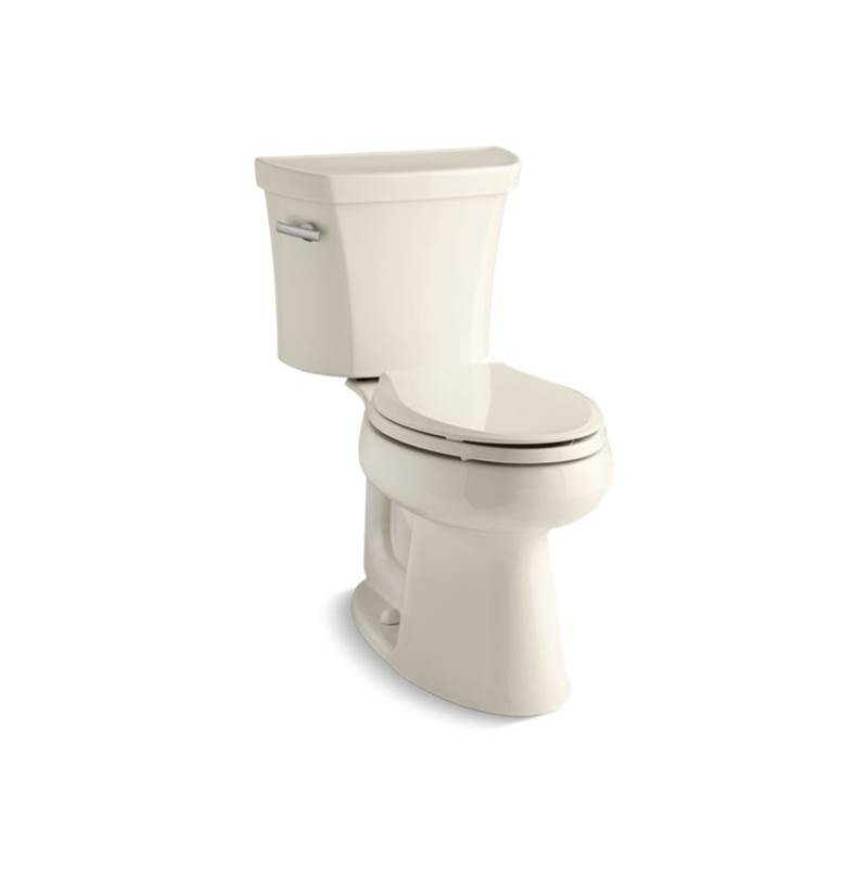 Kohler Highline® Comfort Height® Two-piece elongated 1.28 gpf chair height toilet with tank cover locks and insulated tank