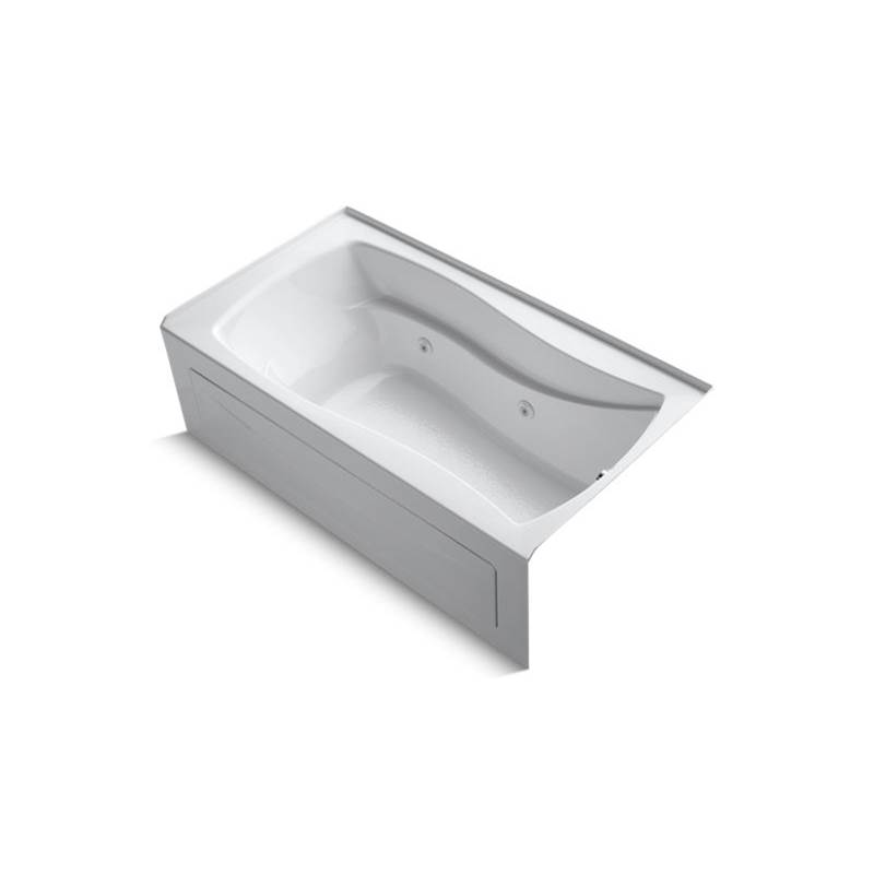 Kohler Mariposa® 66'' x 36'' alcove whirlpool with integral apron, integral flange and right-hand drain
