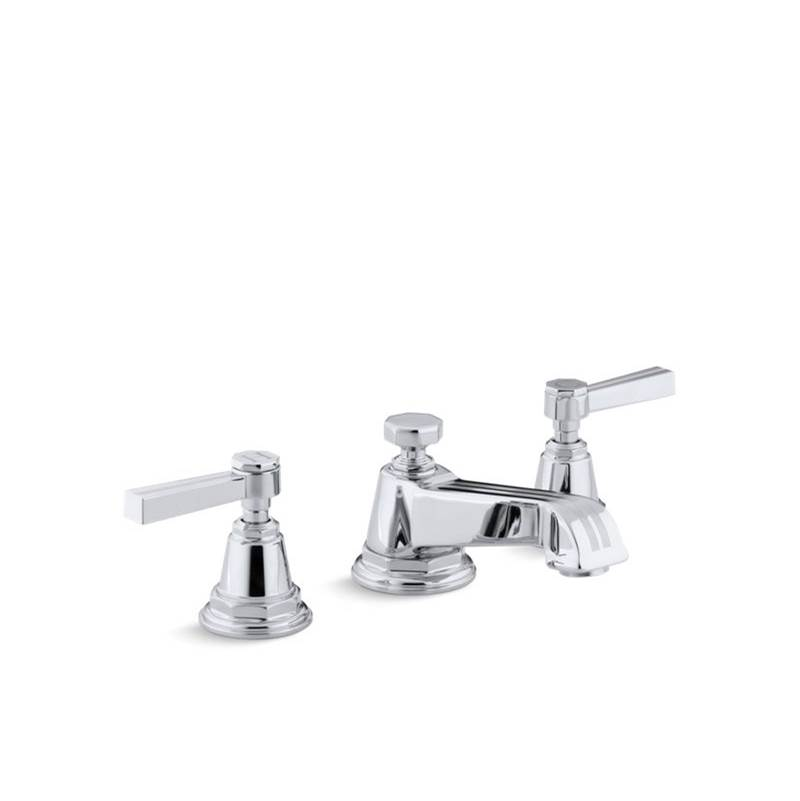 Kohler Pinstripe® Widespread bathroom sink faucet with lever handles