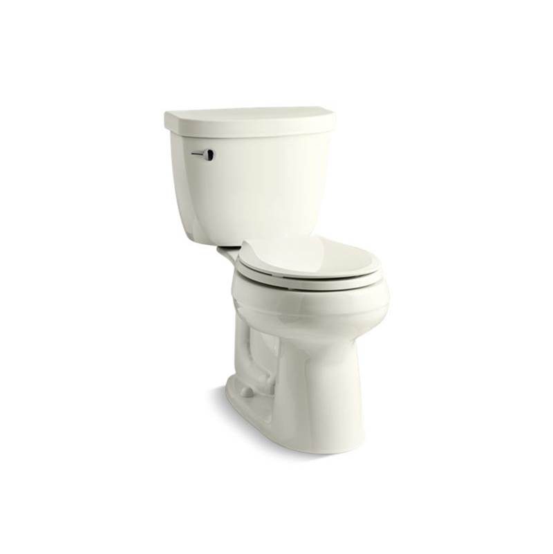 Kohler Cimarron® Comfort Height® Two-piece round-front 1.28 gpf chair height toilet with insulated tank and 10'' rough-in
