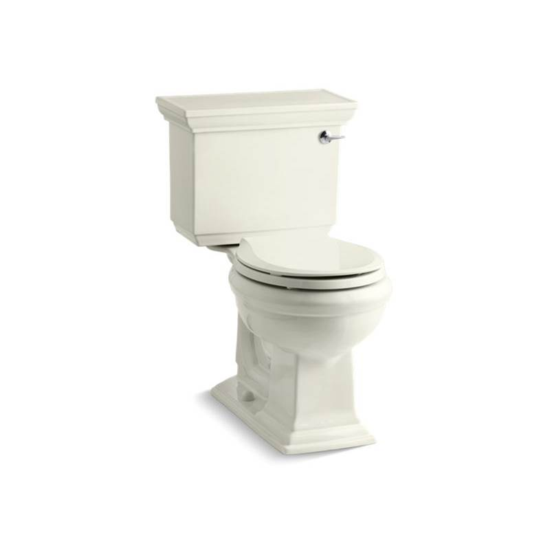 Kohler Memoirs® Stately Comfort Height® Two-piece round-front 1.28 gpf chair height toilet with right-hand trip lever