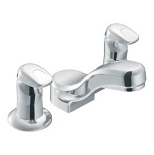 Moen Commercial Chrome two-handle metering lavatory faucet