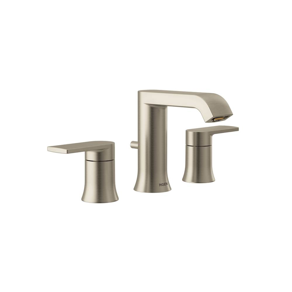 Moen Brushed nickel two-handle bathroom faucet